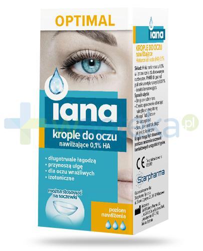 Iana Optimal krople do oczu nawilżające 0,1% HA 10 ml