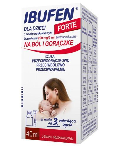 Ibufen dla dzieci Forte 200mg/5ml zawiesina o smaku truskawkowym dla dzieci 3m+ 40 ml