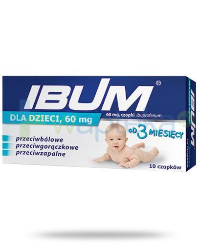 Ibum 60mg dla dzieci 10 czopków [Data ważności 31-01-2020]