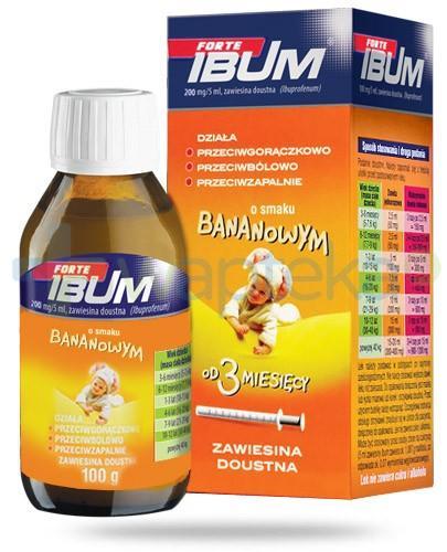 Ibum Forte zawiesina doustna 200mg/5ml smak bananowy 100 g