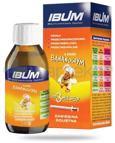 Ibum zawiesina doustna 100mg/5ml smak bananowy 130 g