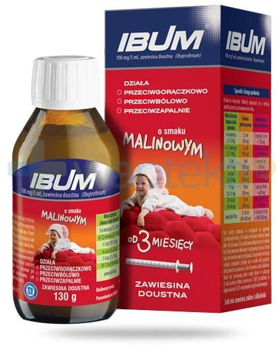Ibum zawiesina doustna 100mg/5ml smak malinowy 130 g