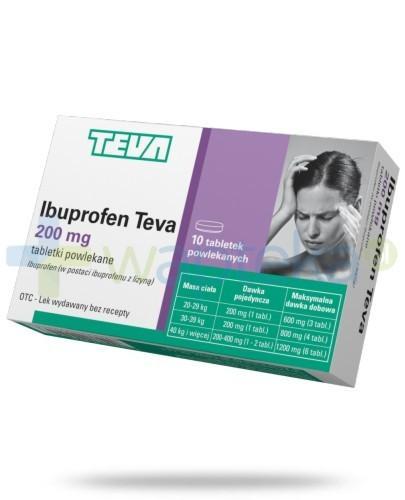 Ibuprofen Teva 200mg 10 tabletek