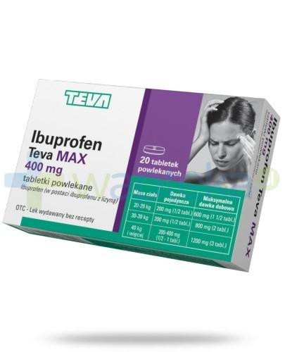 Ibuprofen Teva Max 400mg 20 tabletek