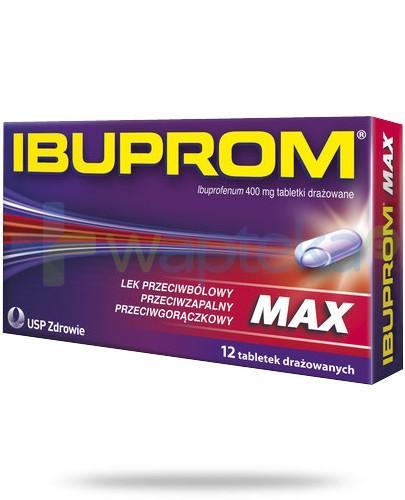 Ibuprom Max 400mg 12 tabletek