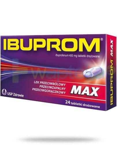 Ibuprom Max 400mg 24 tabletki