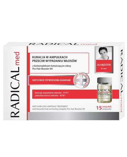 Ideepharm Radical Med kuracja przeciw wypadaniu włosów dla mężczyzn w ampułkach 15x 5 ml