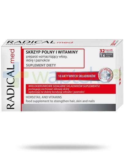 Ideepharm Radical Med skrzyp polny i witaminy wzmacniające włosy skóę i paznnokcie 32 kapsułki