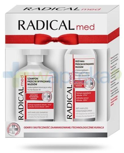 Ideepharm Radical Med szampon przeciw wypadaniu włosów 300 ml + odżywka przeciw wypadaniu włosów 200 ml [ZESTAW]