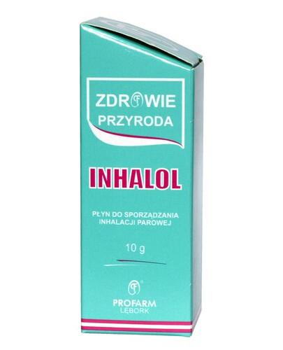Inhalol (0,1 g + 0,1 g + 0,2 g + 0,6 g/g) krople do inhalatora 10 g