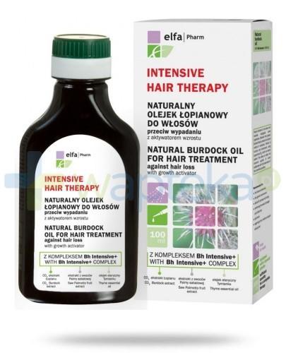 Intensive Hair Therapy Naturalny olejek łopianowy do włosów z kompleksem Bh Intensive + przeciw wypadaniu włosów z aktywatorem wzrostu 100 ml Elfa Pharm