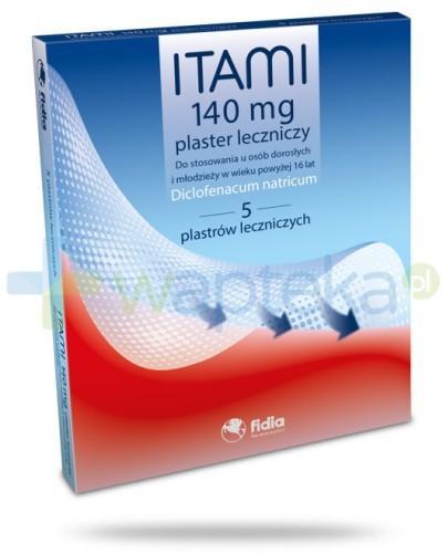 Itami plaster leczniczy 140 mg 5 sztuk