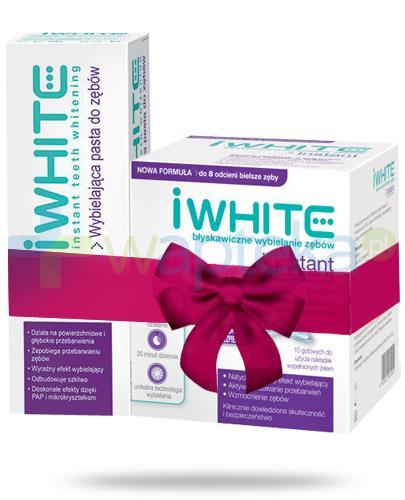 iWhite Instant nakładki wybielające do zębów 10 sztuk + iWhite pasta wybielająca do zębów 75 ml [ZESTAW]