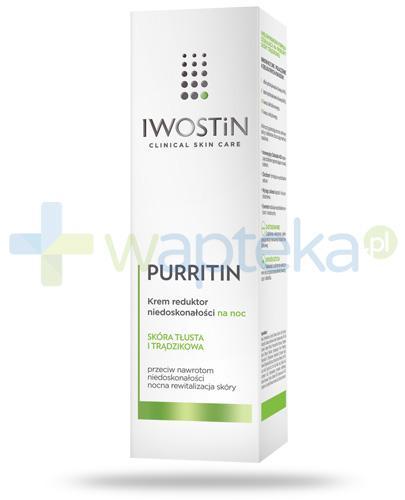 Iwostin Purritin krem reduktor niedoskonałości na noc 40 ml
