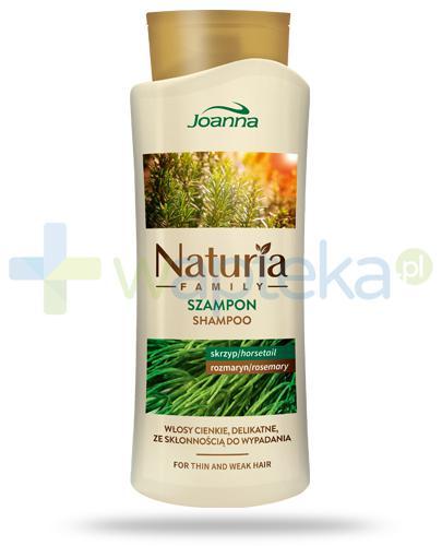 Joanna Naturia Family szampon ze skrzypem i rozmarynem do włosów cienkich, delikatnych ze skłonnością do wypadania 750 ml