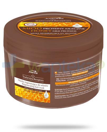 Joanna Tradycyjna Receptura Miód proteiny mleczne maska regenerująca do włosów 250 g