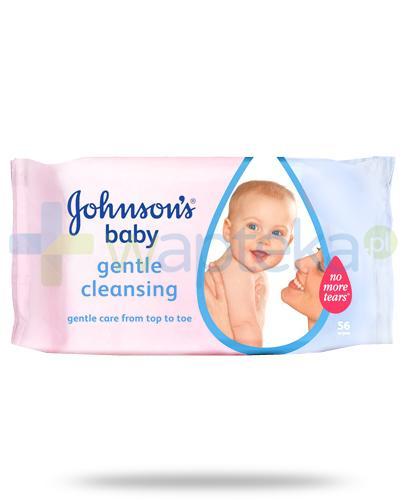 Johnsons Baby Gentle Cleansing delikatne chusteczki oczyszczające 56 sztuk