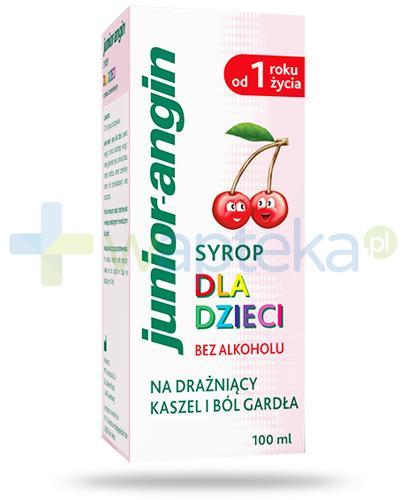 Junior-angin syrop na gardło dla dzieci 1+ o smaku wiśniowym bez alkoholu 100 ml