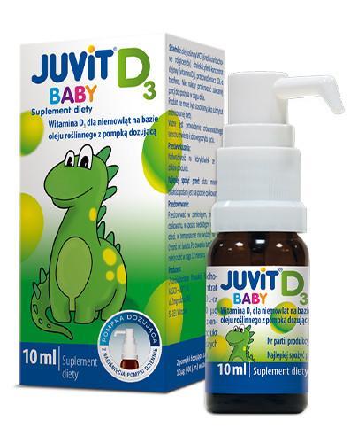 Juvit Baby D3 krople doustne z pompką 10 ml