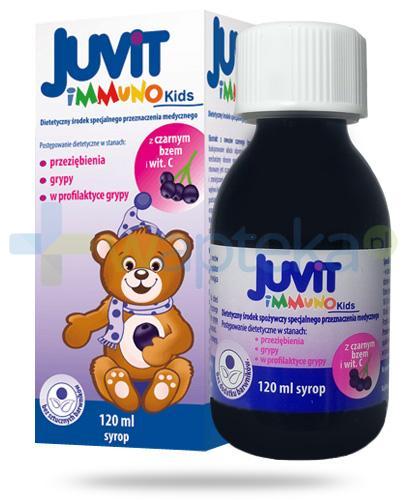 Juvit Immuno Kids syrop z czarnym bzem i witaminą C 120 ml