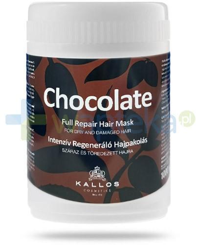 Kallos Chocolate maska regenerująca do włosów suchych i łamiących się 1000 ml