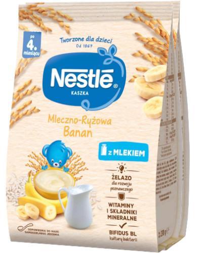 Kaszka mleczno-ryżowa Nestlé banan po 4 miesiącu 2x 230 g [DWUPAK] + łyżeczka [GRATIS]