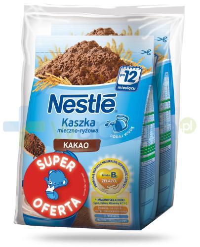 Kaszka mleczno-ryżowa Nestlé kakao po 12 miesiącu 2x 230 g [DWUPAK] + łyżeczka [GRATIS]