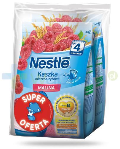 Kaszka mleczno-ryżowa Nestlé malina po 4 miesiącu 2x 230 g [DWUPAK] + łyżeczka [GRATIS]