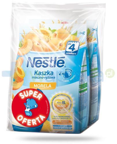 Kaszka mleczno-ryżowa Nestlé morela po 4 miesiącu 2x 230 g [DWUPAK] + łyżeczka [GRATIS]