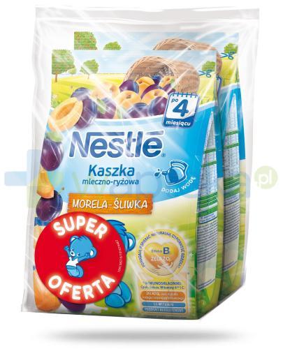 Kaszka mleczno-ryżowa Nestlé morela-śliwka po 4 miesiącu 2x 230 g [DWUPAK] + łyżeczka [GRATIS] [Data ważności 31-05-2019]