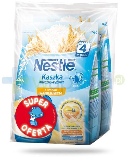 Kaszka mleczno-ryżowa Nestlé o smaku waniliowym po 4 miesiącu 2x 230 g [DWUPAK] + łyżeczka [GRATIS]