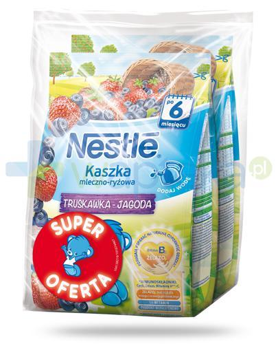Kaszka mleczno-ryżowa Nestlé truskawka jagoda po 6 miesiącu 2x 230 g [DWUPAK] + łyżeczka [GRATIS]