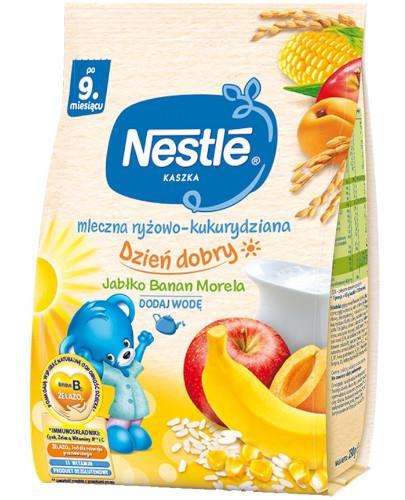 Kaszka Nestlé Dzień dobry ryżowo-kukurydziana jabłko, banan i morela po 9 miesiącu 230 g