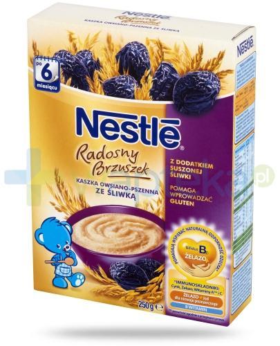 Kaszka Nestlé Radosny Brzuszek owsiano-pszenna ze śliwką po 6 miesiącu 250 g