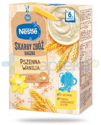 Kaszka pszenna Nestlé Skarby Zbóż wanilia po 6 miesiącu 250 g [KUP 2 dwie dowolne kaszki Nestlé Skarby Zbóż = łyżeczka GRATIS]
