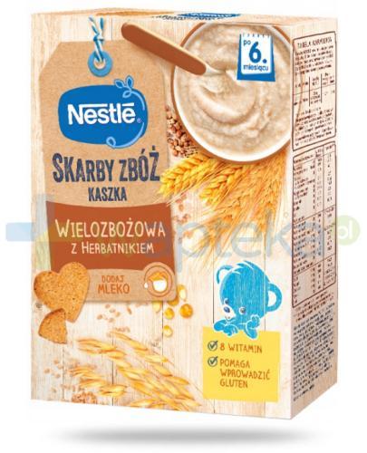 Kaszka wielozbożowa Nestlé Skarby Zbóż z herbatnikiem po 6 miesiącu 250 g [KUP 2 dwie dowolne kaszki Nestlé Skarby Zbóż = łyżeczka GRATIS]