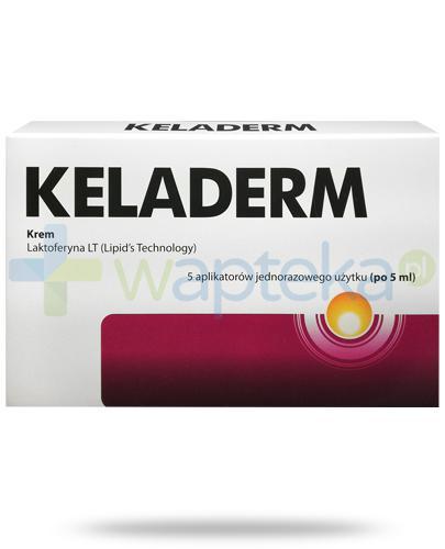 Keladerm krem z laktoferyną na przebarwienia skóry, aplikator 5x 5 ml