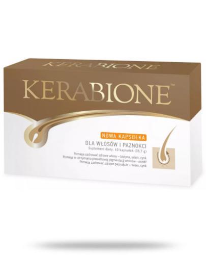 Kerabione dla włosów, paznokci i skóry 60 kapsułek - KUPUJĄC 3 opakowania kosmetyczka GRATIS!