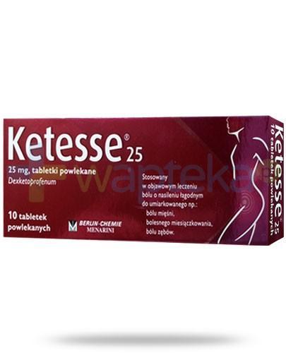 Ketesse 25 25mg lek przeciwbólowy 10 tabletek