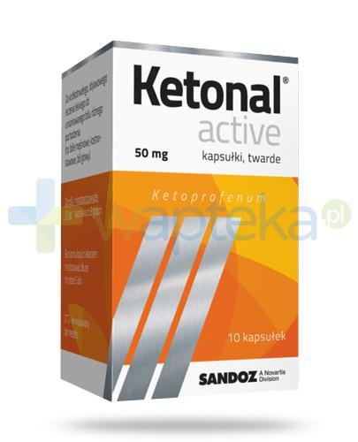 Ketonal Active 50mg 10 kapsułek