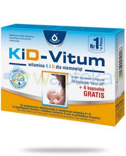 KiD-Vitum witamina K i D dla niemowląt 36 kapsułek + 6 kapsułek