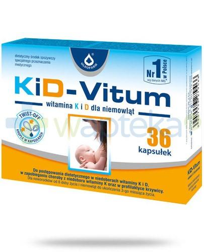KiD-Vitum witamina K i D dla niemowląt 36 kapsułek