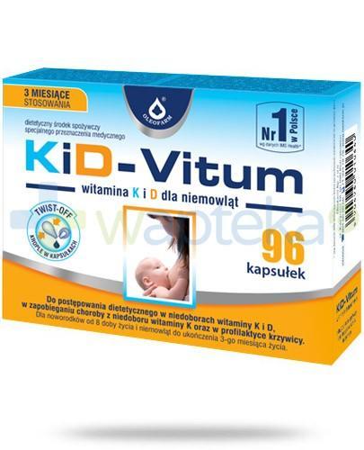 KiD-Vitum witamina K i D dla niemowląt 96 kapsułek