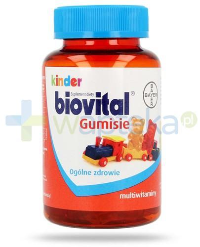 Kinder Biovital Gumisie żelki multiwitaminowe 60 sztuk