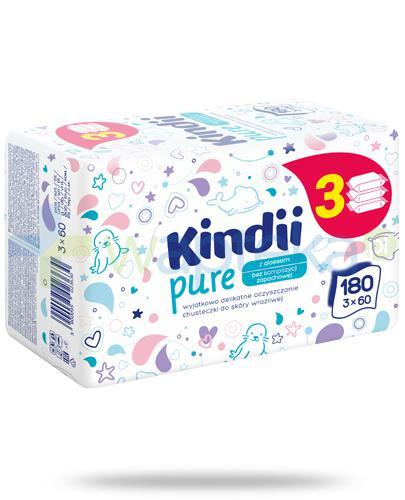 Kindii Pure bezzapachowe chusteczki z aloesem do skóry wrażliwej 3x 60 sztuk