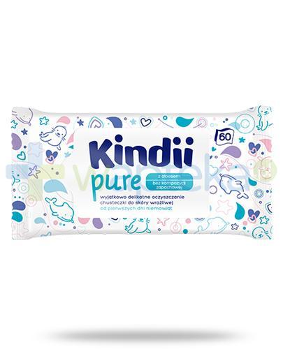 Kindii Pure bezzapachowe chusteczki z aloesem do skóry wrażliwej 60 sztuk