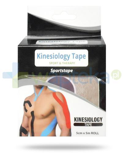 Kinesiology Tape taśma do kinesiotapingu 5cm x 5m kolor beżowy 1 sztuka