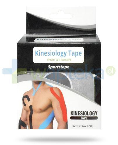 Kinesiology Tape taśma do kinesiotapingu 5cm x 5m kolor czarny 1 sztuka