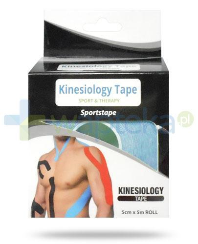 Kinesiology Tape taśma do kinesiotapingu 5cm x 5m kolor niebieski 1 sztuka