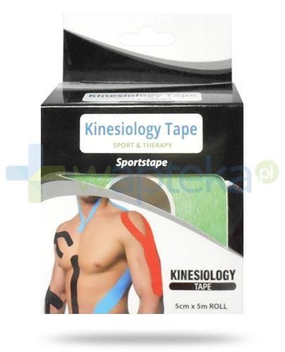 Kinesiology Tape taśma do kinesiotapingu 5cm x 5m kolor zielony 1 sztuka